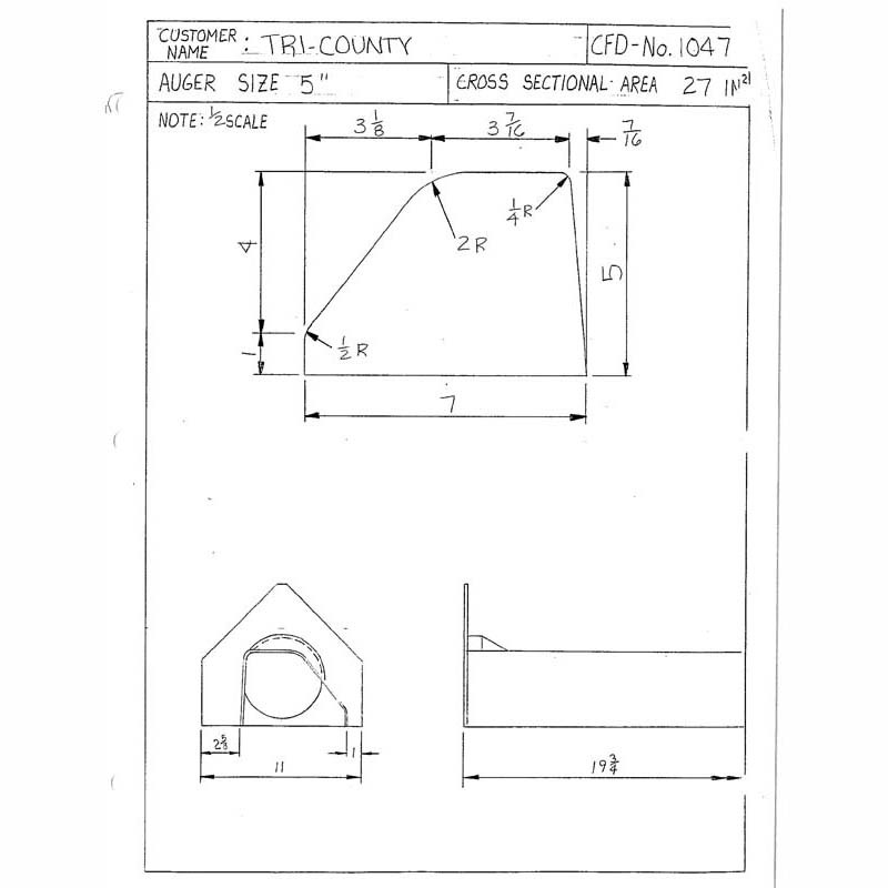 CFD-1047-5 Miller Curb Mold - 5in Auger Only