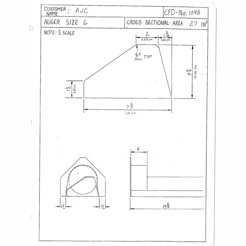 CFD-1048-5 Miller Curb Mold - 5in Auger Only