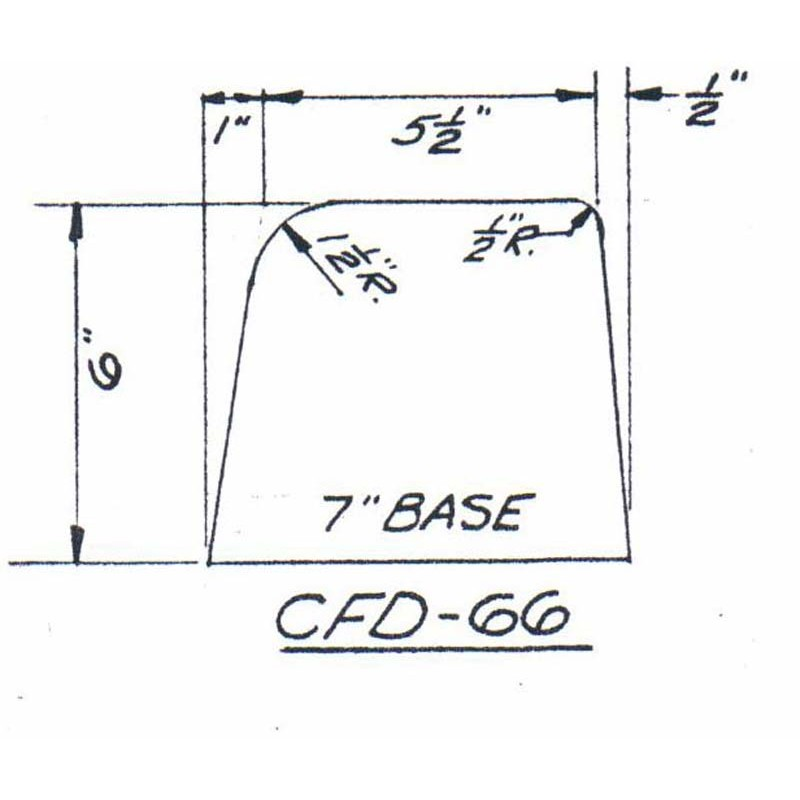 CFD-66-6 Miller Curb Mold - 6in Auger Only