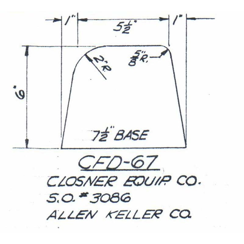 CFD-67-6 Miller Curb Mold - 6in Auger Only