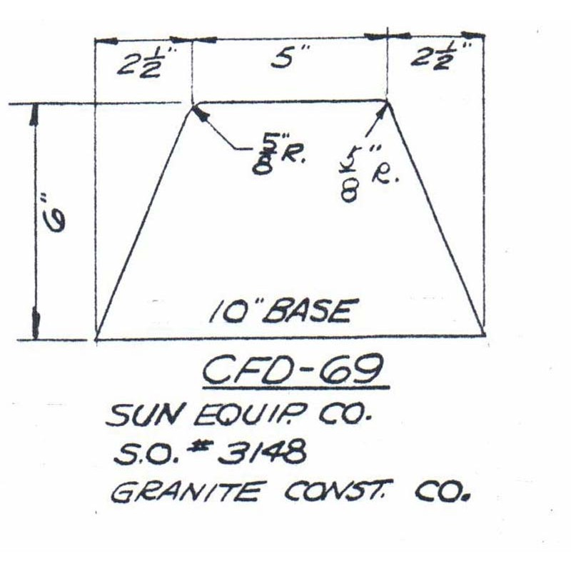 CFD-69-6 Miller Curb Mold - 6in Auger Only