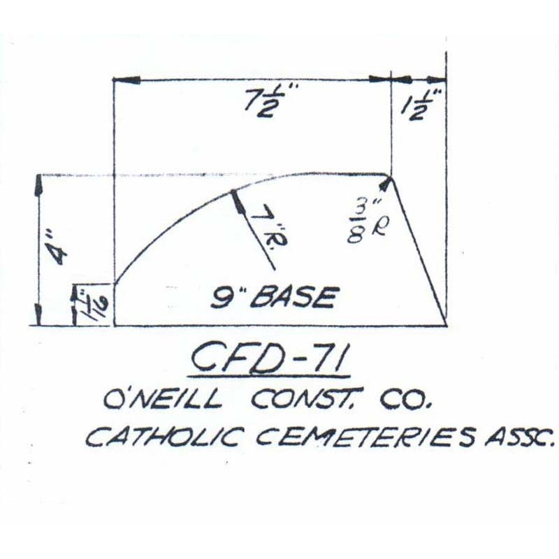 CFD-71-6 Miller Curb Mold - 6in Auger Only