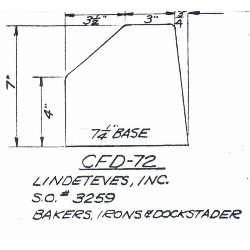 CFD-72-6 Miller Curb Mold - 6in Auger Only