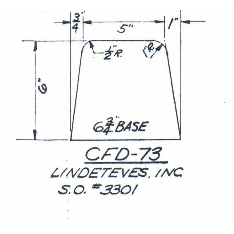 CFD-73-6 Miller Curb Mold - 6in Auger Only