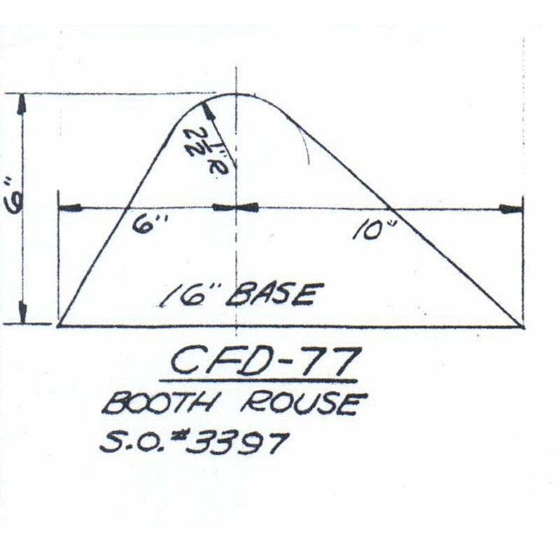 CFD-77-6 Miller Curb Mold - 6in Auger Only
