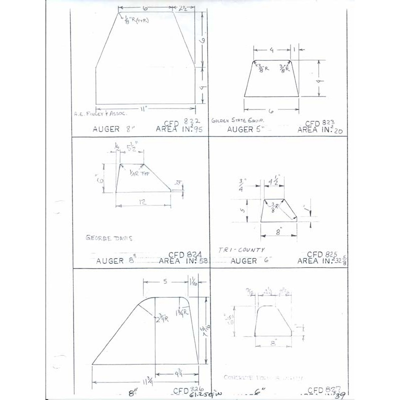 CFD-825-5 Miller Curb Mold - 5in Auger Only