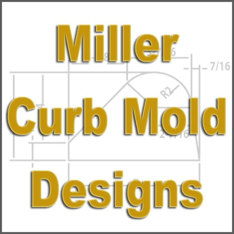 CFD-284-5 Miller Curb Mold - 5in Auger Only