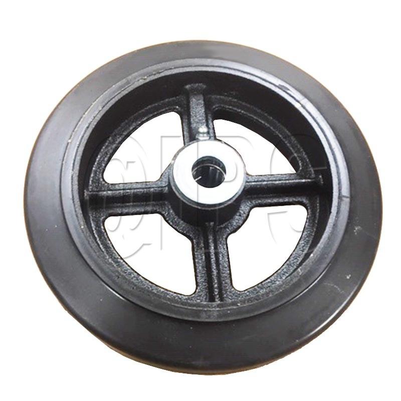 "Wt0100 Miller Curber 8""X 2"" Rubber Wheel W/Roller Brg & Zerk"