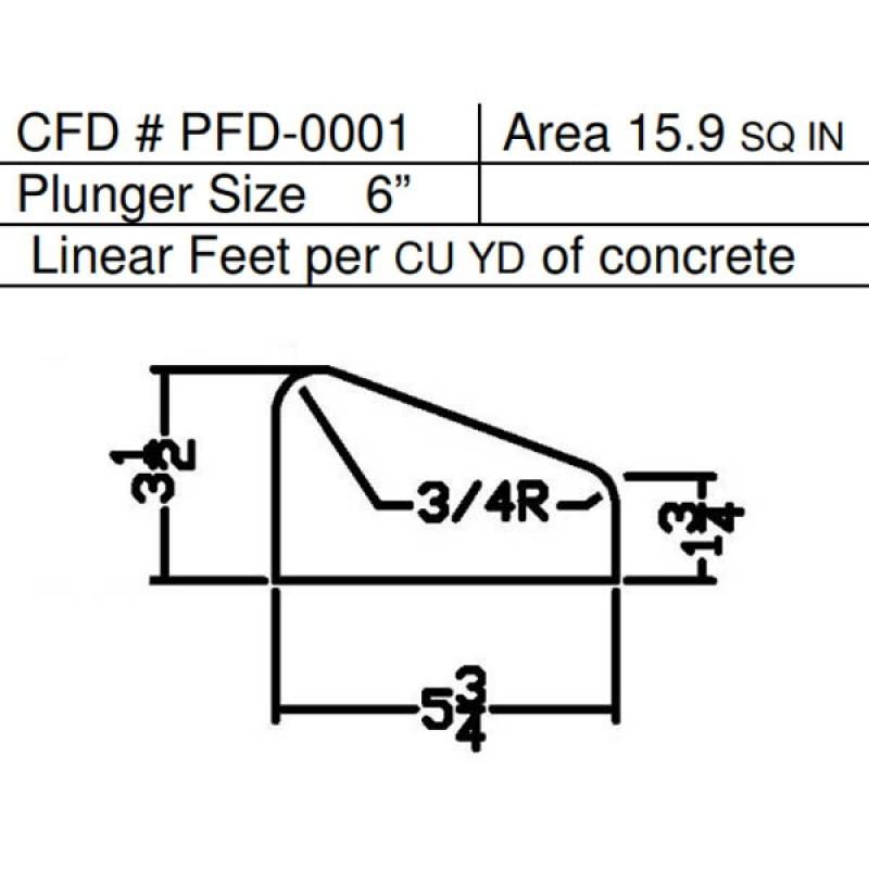 """PFD-0001 Miller Curber MC350 Curbilder Std Form w/6"""" Plunger"""