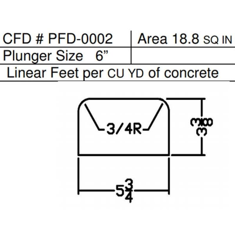 """PFD-0002 Miller Curber MC350 Curbilder Std Form w/6"""" Plunger"""